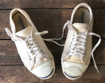 Jack Purcell Converse White Canvas Sneakers Made in USA