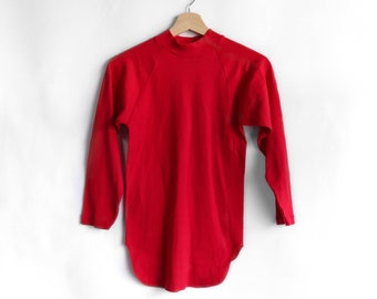 1960's Hanes Sport Red Knit Shirt