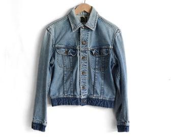 Perfectly Faded Lee 101-J Sanforized Denim Jacket