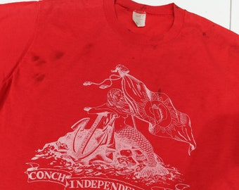 1970's Florida Souvenir T Shirt Mermaid