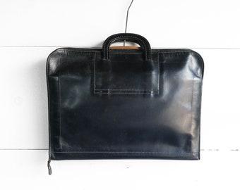 1960's Black Leather Portfolio Attache'