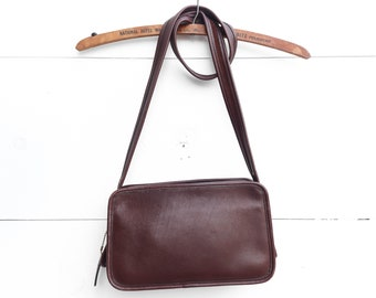 Coach 9164 Zip Top Shoulder Bag in Dark Brown