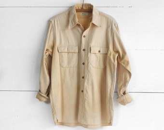 Well Worn L.L. Bean Yellow Flannel Chamois Shirt