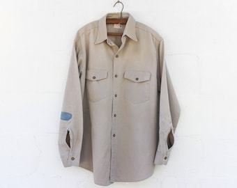 LRG | Late 50's Vat Dyed Mended Duck Head Khaki Long Sleeve Work Shirt