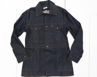 1970's Levi's Safari Bush Jacket in Dark Indigo size Large