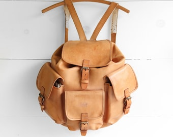 Large Leather Backpack Oversized Travel Bag Carry All