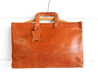 HAZEL Brand Brown Leather Attache' Bag