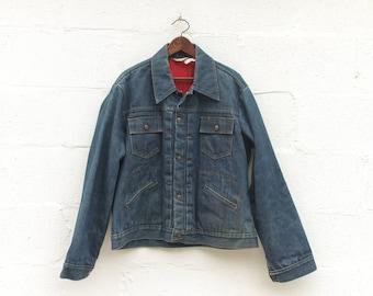 LRG | Men's Pleated Front Denim Jacket JC Penny Super Denim Lined Zipper Denim Jacket
