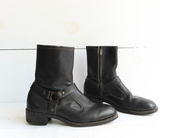 Iron Age Short Steel Toe Motorcyle Harness Boots