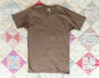 1980's Fruit of the Loom All Cotton Tee in Brown