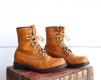 Men's Wolverine Round Toe Work Boots