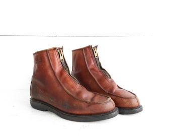1960's Sub Zero Insulated Zip Front Work Boots size 10 1/2 D
