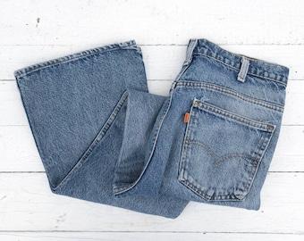 1b9d520b624 Levis 646 Orange Tab Bell Bottom Denim Jeans