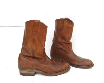 9.5 C (Narrow) | Men's Vintage Brown Red Wing Pecos Boots