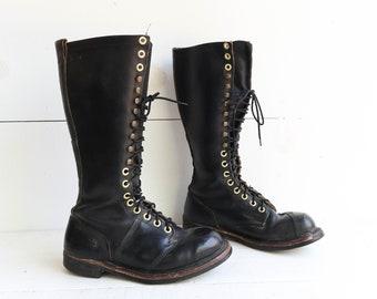 Vintage Steel Toe Linesman Boots