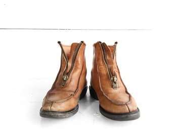1960's Sub Zero Insulated Zip Front Work Boots size 7 1/2 D