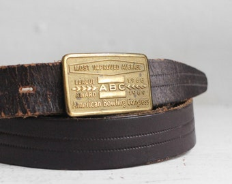 1968 - 1969 ABC League Award American Bowling Congress Buckle and Belt