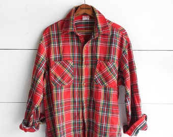 Men's Plaid Fannel  Red, Green, Yellow Big Mac by JC Penny - LRG
