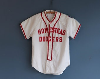 1960's Wilson's Baseball Uniform Jersey Homestead Dodgers