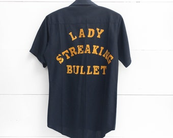 "1970's Uniform Work Shirt ""Lady Streaking Bullet"""