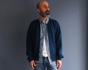 ARROW Blue Zip Cardigan Sweater
