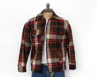 Men's Fleece Lined Zip Up Flannel Jacket