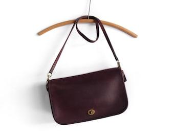 Vintage Coach Leatherware Purple Shoulder Bag