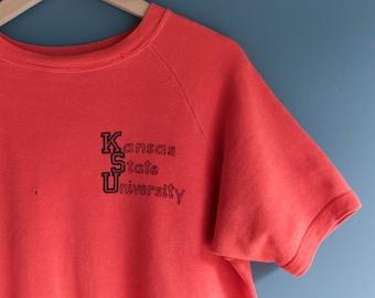 KSU Kansas State University Short Sleeve Raglan Sweatshirt