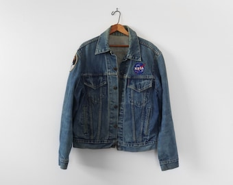 4-Pocket Levi's Denim Trucker Jacket with Space Patches