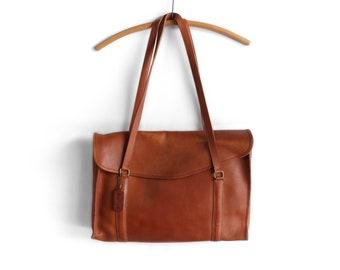 COACH Brown Leather Briefcase Messenger Bag Satchel