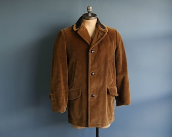 SEARS Corduroy Coat with Mesh Collar & Flannel Lining