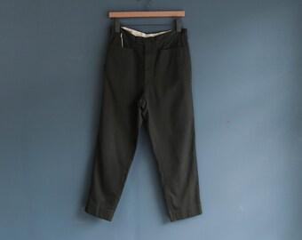 Farrah Cotton/Poly Dark Green Trousers