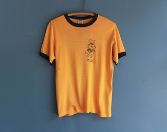Yellow Ringer T by Russell Southern Company Falls Black Tigers Graphic