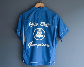 Bell System Ohio Bell Blue Team Bowling Shirt