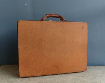 Vintage Hartmann Leather Briefcase | Vintage Hartmann Tan Leather Attache Case | Hartmann Leather Briefcase | Hartmann Leather Attache