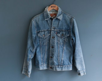 1970's Levi's Distressed Denim Trucker Jacket