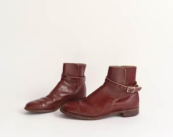 Vintage Ankle Jodhpur Boot | Vintage Women's Brown Leather Jodhpur Boot | Vintage Women's Leather Ankle Boot | Women's Cordovan Leather Boot