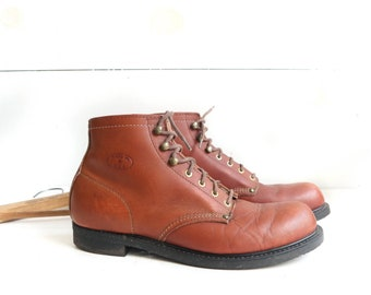 Vintage Chukka Boots Lace Up Work Boots size 10.5 D