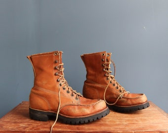 Perfectly Worn Moc Toe Work Boots