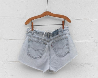 Perfectly Distressed High Waist Levi's Denim Cut Offs