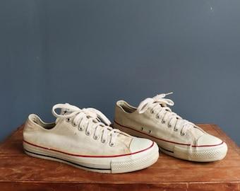 Vintage 80's Low Top Converse Chuck Taylor Shoes