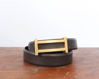 CARLISLE Lizard Texture Leather Belt