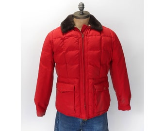 Eddie Bauer Goose Down Puffer in Red