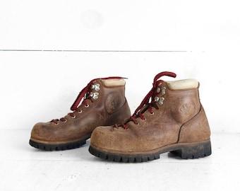 Women's Tan Split Cowhide VASQUE Hiking Trail Boots