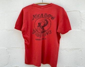 Meadow Muffins Colorado Springs, CO Vintage Pocket T Shirt