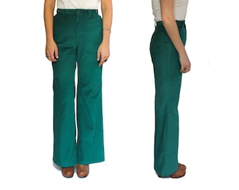 1960's Big E Levis Corduroy Bell Bottoms in Green