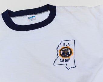 R.A. Camp Ringer Tee printed on Champion Sportswear