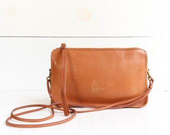 COACH NYC Zip Top Leather Clutch Shoulder Bag