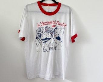 Vintage Margaret Thatcher T-Shirt 1987 A Monumental Face Lift