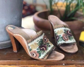 1970's Tapestry Shoes by Rosina Ferragamo Schiavone